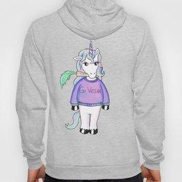 go vegan unicorn Hoody