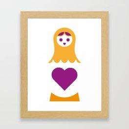 Matrioska in purple Framed Art Print