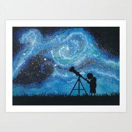 Observing the Universe Art Print