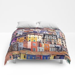 City Structures Collage Comforters
