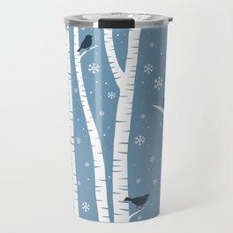 Birch Forest - Winter Idyll Travel Mug