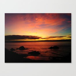 Sutro Baths Sunset Canvas Print