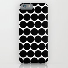 Black & White Polka Spots Slim Case iPhone 6s