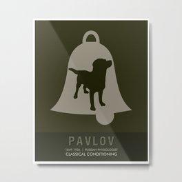 Science Posters - Ivan Pavlov - Physiology Metal Print
