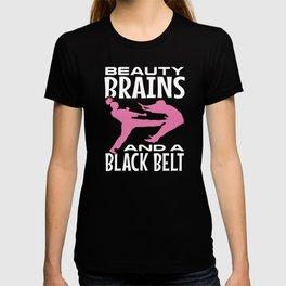 Beauty Brains Black Belt Karate T-shirt