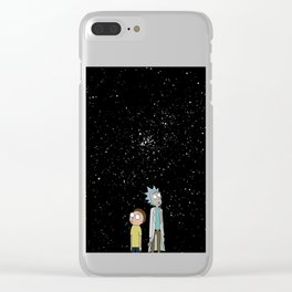 Rick and Morty Galaxy Collection Clear iPhone Case