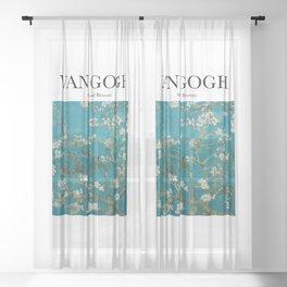 Van Gogh - Almond Blossom Sheer Curtain