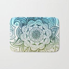 Mandala Blue Yellow Bath Mat