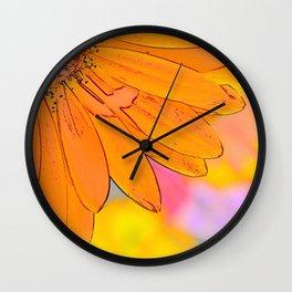 Orange Spring! Wall Clock