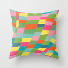 colorful patchwork 3 Throw Pillow