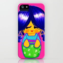 Curly Kokeshi iPhone Case