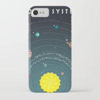 solar system iPhone & iPod Cases featuring Solar System by scarriebarrie