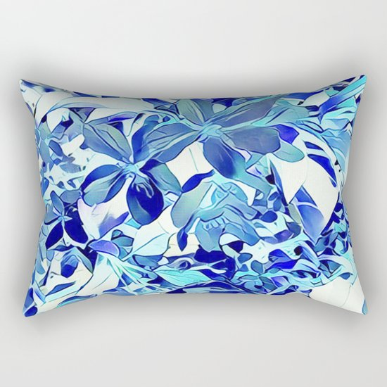 Blue sakura Rectangular Pillow