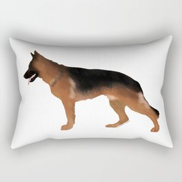 German Shepherd: Red & Black Rectangular Pillow