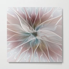 A Floral Friend, Abstract Fractal Art Metal Print