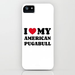 American Pugabull iPhone Case