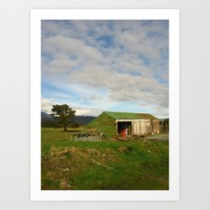 New Zealand Barn Art Print