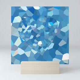 Aqua Heart Mini Art Print