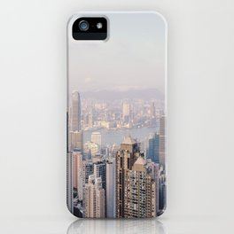 Hong Kong skyline by day iPhone Case