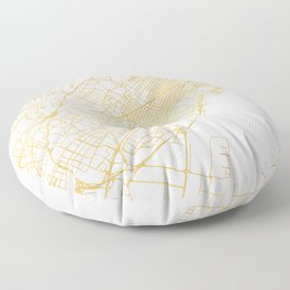 BARCELONA SPAIN CITY STREET MAP ART Floor Pillow