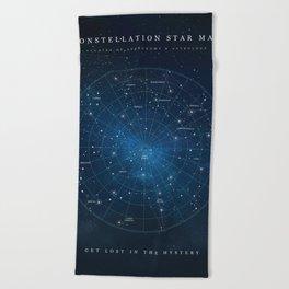 Constellation Star Map Beach Towel