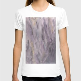 Touching Lavender Black Gold Watercolor Abstract #1 #painting #decor #art #society6 T-shirt
