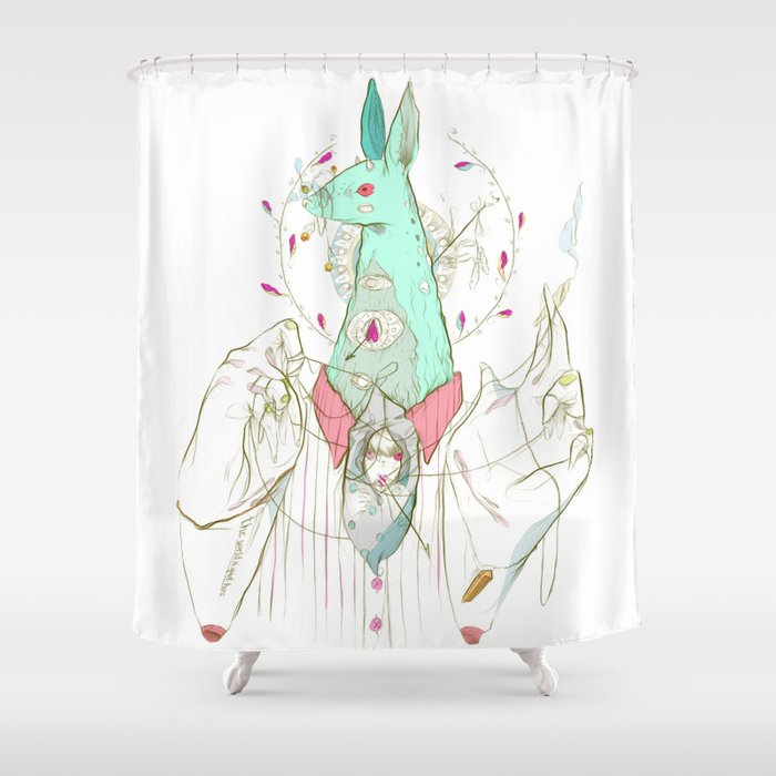 A Case of Verse, Reverse Shower Curtain