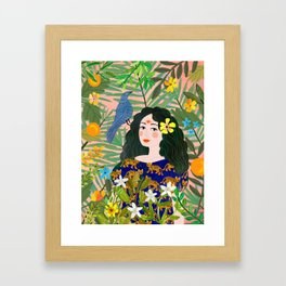 Boho Lady Framed Art Print