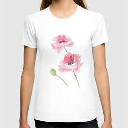 Pink Poppies T-shirt