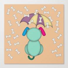 It's raining bones! Canvas Print