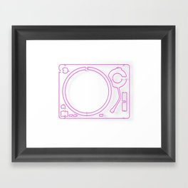 Neon Turntable 2 - 3D Art Framed Art Print