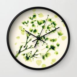 Green tickles - Botanical Print Wall Clock