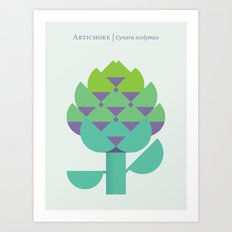Vegetable: Artichoke Art Print