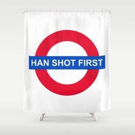 Han Shot First Shower Curtain