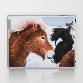 Icelandic Horses in Winter Landscape of Iceland Laptop & iPad Skin