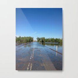 Shaw River Road in Flood Metal Print
