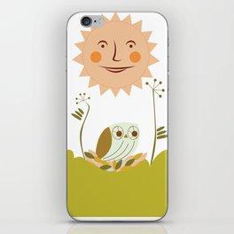 Owl sun iPhone Skin