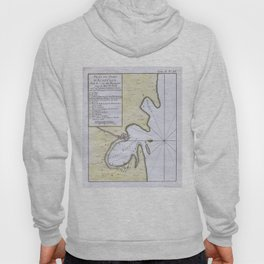 Vintage Map of Acapulco Mexico (1764) Hoody