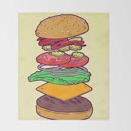 Vegan Burger Anatomy (No Words) Throw Blanket