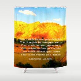 Gandhi Wisdom Saying Quotation About Destiny Shower Curtain