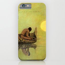 "N C Wyeth Vintage Western Painting ""Fishing Line"" iPhone Case"