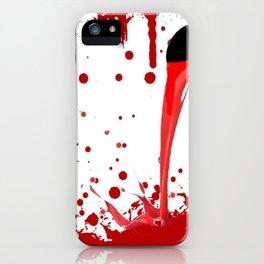 BLEEDING RED ART iPhone Case