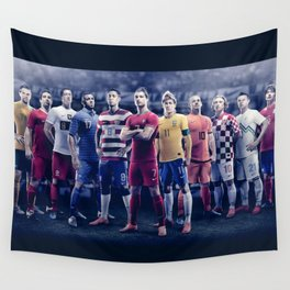 Football Superstars 01 Wall Tapestry