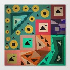 crazy triangles Canvas Print