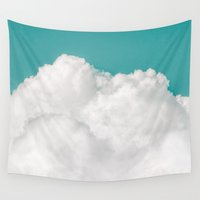 circle Wall Tapestries featuring Dreaming Of Mountains by Tordis Kayma