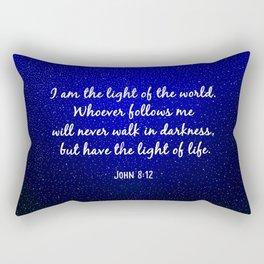 Light of the World - Bible Verse Galaxy Version Rectangular Pillow