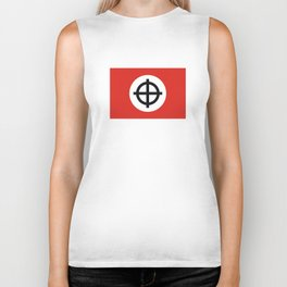 celtic cross flag Biker Tank