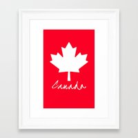canada Framed Art Prints featuring Canada by Jason Michael