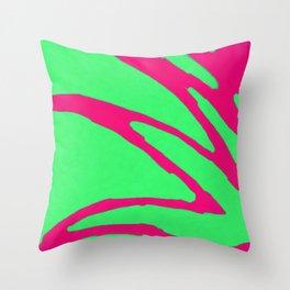 Green Pink Pattern Throw Pillow