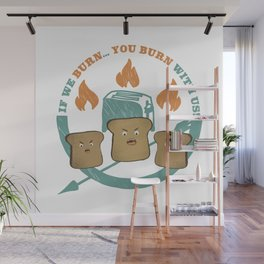 The Toast On Fire Wall Mural